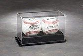 BASEBALL ACRYLIC DISPLAY CASE FOR 2 BALLS