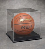 BASKETBALL ACRYLIC DISPLAY CASE BLACK BASE
