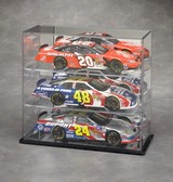 1/18 SCALE 3 CAR DIECAST ACRYLIC DISPLAY CASE