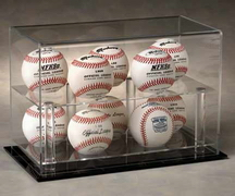 BASEBALL TWO TIER ACRYLIC DISPLAY CASE FOR 10 BALLS