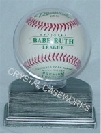 SINGLE BASEBALL ACRYLIC DISPLAY CASE - SILVER BASE