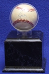 BASEBALL ACRYLIC DISPLAY CASE - PLATFORM BASE - ROUND BALL HOLDER