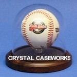 SINGLE BASEBALL GLASS DISPLAY CASE DOME