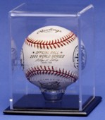 ETCHED ACRYLIC SINGLE BASEBALL DISPLAY CASE