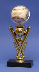 LITTLE LEAGUE BASEBALL TROPHY GAME BALL DISPLAY CASE