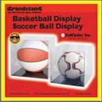 BALL QUBE BASKETBALL SOCCER BALL DISPLAY CASE - 98% UV PROTECT