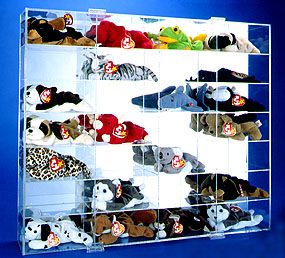 Beanie Baby Size Acrylic Display Casefor 28 Beanies