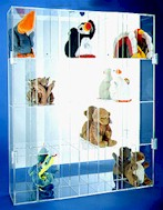 BEANIE BABY SIZE ACRYLIC DISPLAY CASEFOR 28 BEANIES - VERTICAL