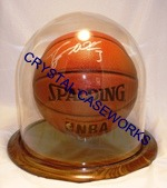 BASKETBALL GLASS DISPLAY CASE - DOME