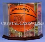 ETCHED GLASS BASKETBALL DISPLAY CASE - DESKTOP - PYLONS