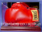 Boxing Glove Glass Display Cases