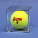 BALL QUBE TENNIS BALL ACRYLIC DISPLAY CASE - BUILT IN STAND