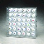 36 GOLF BALL ACRYLIC DISPLAY CASE WITH MIRRORED BACK