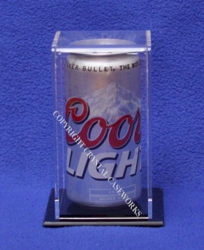 Single Soda Pop Beer Can Acrylic Display Case Custom
