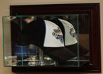 ETCHED GLASS CAP / HAT DISPLAY CASE FOR FULL CAP - WALL MOUNT