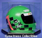 NASCAR DRIVERS HELMET GLASS DISPLAY CASE - DESKTOP