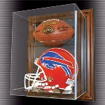 FOOTBALL & FULL SIZE HELMET ACRYLIC DISPLAY CASE