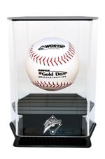 SINGLE FLOATING SOFTBALL ACRYLIC DISPLAY CASE