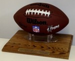 SOLID HARDWOOD FOOTBALL DISPLAY STAND