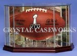 FOOTBALL OCTAGON  GLASS DISPLAY CASE - DESKTOP - PYLONS