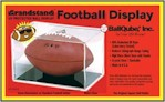 BALL QUBE FOOTBALL DISPLAY CASE - BLACK BASE - 98% UV PROTECTION