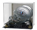 FULL SIZE FOOTBALL HELMET ACRYLIC DISPLAY CASE - LASER ETCHED