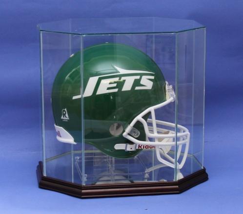 FULL SIZE FOOTBALL HELMET GLASS DISPLAY CASE CUSTOM STAND Custom Mesmerizing Football Stands Display