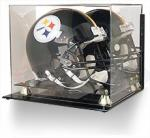 WALL MOUNT FOOTBALL HELMET ACRYLIC DISPLAY CASE GOLD RISERS