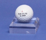 GOLF BALL DIMPLE BLOCK ACRYLIC DISPLAY STAND - SMALL