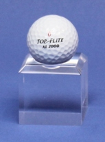 GOLF BALL DIMPLE BLOCK ACRYLIC DISPLAY STAND - TALL