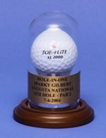 SINGLE GOLF BALL ROUND GLASS DISPLAY CASE DOME