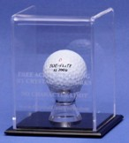 ETCHED ACRYLIC GOLF BALL DISPLAY CASE