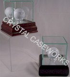 GLASS GOLF BALL DISPLAY CASES