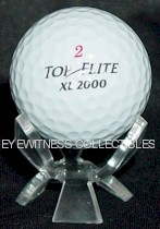 SINGLE GOLF BALL ACRYLIC DISPLAY STAND - HOLDER