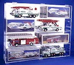 8 HESS TRUCK OR FIRE ENGINEACRYLIC DISPLAY CASE - 8 FREE NAME PLATES