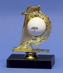 GOLF BALL HOLE IN ONE ACRYLIC DISPLAY STAND