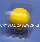 LACROSSE BALL ACRYLIC DISPLAY CASE - BUILT IN STAND