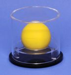 LACROSSE BALL ROUND ACRYLIC DISPLAY CASE