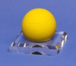 LACROSSE BALL DIMPLE BLOCK ACRYLIC DISPLAY STAND