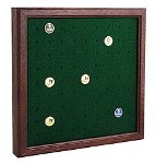 GOLF BALL MARKER SOLID OAK DISPLAY CASE