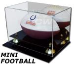 MINI FOOTBALL ACRYLIC DISPLAY CASE GOLD RISERS