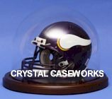 MINI HELMET ROUND GLASS DISPLAY DOME