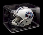 MINI HELMET ACRYLIC DISPLAY CASE WITH BEVELED EDGES
