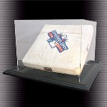 FULL SIZE BASEBALL BASE WITH POST DISPLAY CASE
