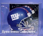 FOOTBALL HELMET ACRYLIC DISPLAY CASE SLIDE OFF TOP PANEL