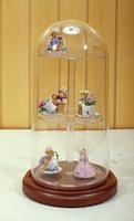 "5-1/2"" X 11"" GLASS DISPLAY DOME  CASE WITH PLATFORM SHELVES"