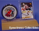 HOCKEY PUCK & CARD ACRYLIC DISPLAY CASE