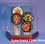 Hockey Puck Glass Display Case