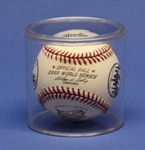 SINGLE BASEBALL ROUND ACRYLIC DISPLAY CASE TUBE