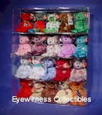 BEANIE BABIES SIZE 4 SHELF ACRYLIC DISPLAY CASE